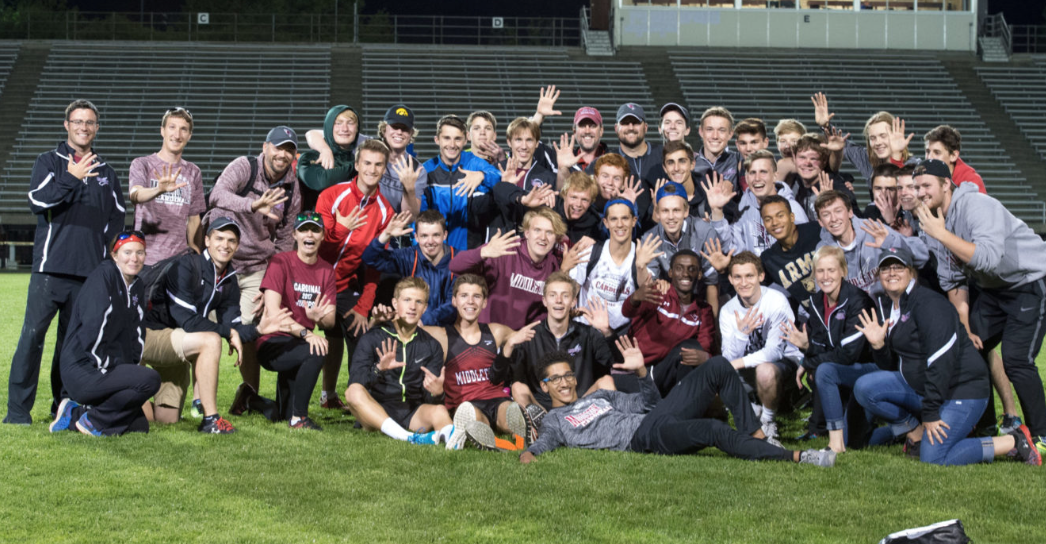MHS Boys Track and Field after winning the 2017 conference meet. Photo courtesy of Joseph Line.