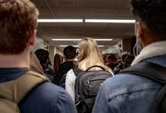 Students experience sexual harassment within the halls of the school building, from hallways to classrooms.