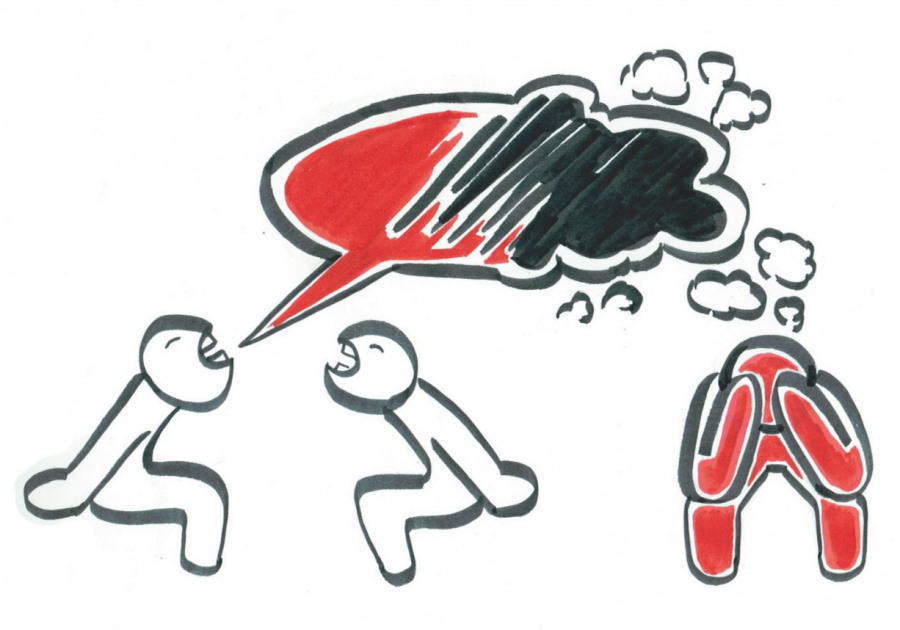 An illustration by MHS senior Jazmyn Babler depicts the spread of toxic messages.