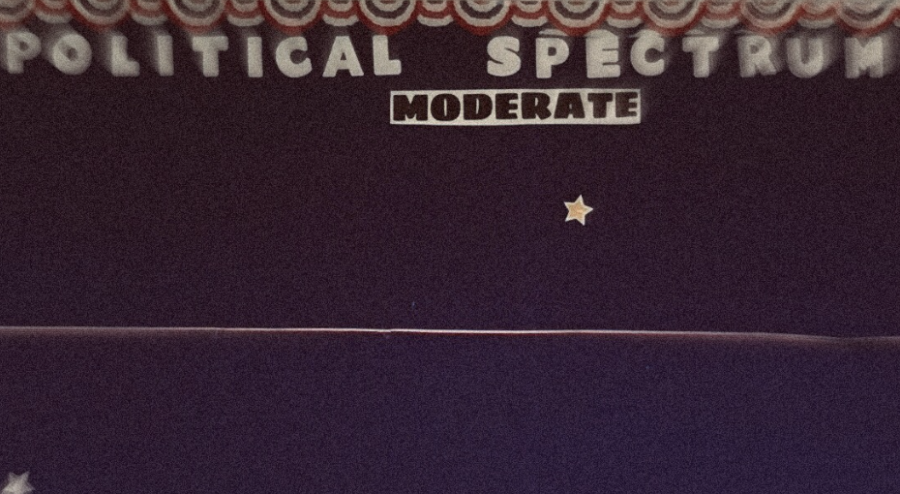 The+moderate+stretch+of+the+political+spectrum+used+by+government+students+is+completely+vacant.