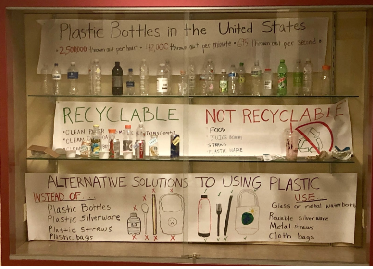 To+raise+awareness+for+proper+recycling+methods%2C+students+from+Ms.+Madison%E2%80%99s+Environmental+Studies+class+created+a+display+promoting+the+three+R%E2%80%99s%3A+Reduction%2C+Reuse%2C+and+Recycling.