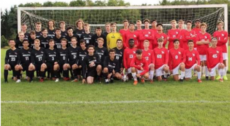 The MHS Soccer JV senior squad (black jerseys) and varsity reserve (red jerseys) will face off in El Clasico on October 14 at 7:30 pm.