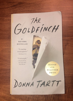Cover of The Goldfinch by Donna Tartt, which won the 2014 Pulitzer Prize for Fiction.