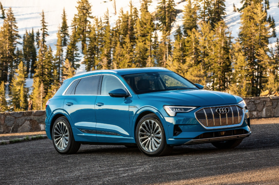The Audi e-tron SUV is the first of Audi's series of highly anticipated electric cars.