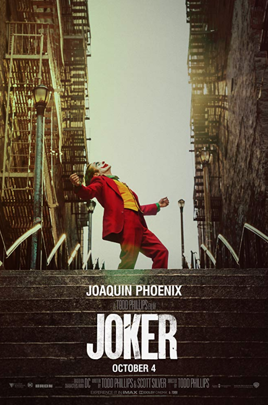 Joaquin+Phoenix%2C+who+plays+the+Joker%2C+dances+on+a+staircase+in+the+Joker%E2%80%99s+official+movie+poster.