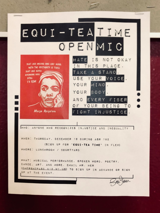 Equi-Tea+Time%2C+the+official+name+for+an+open+mic+responding+to+rising+tensions+at+MHS%2C+occurred+on+December+18+during+ASR.+The+event+was+intended+as+an+outlet+for+student+voice.+