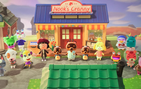 All members of the island are shown here celebrating the opening of the new and improved store.
