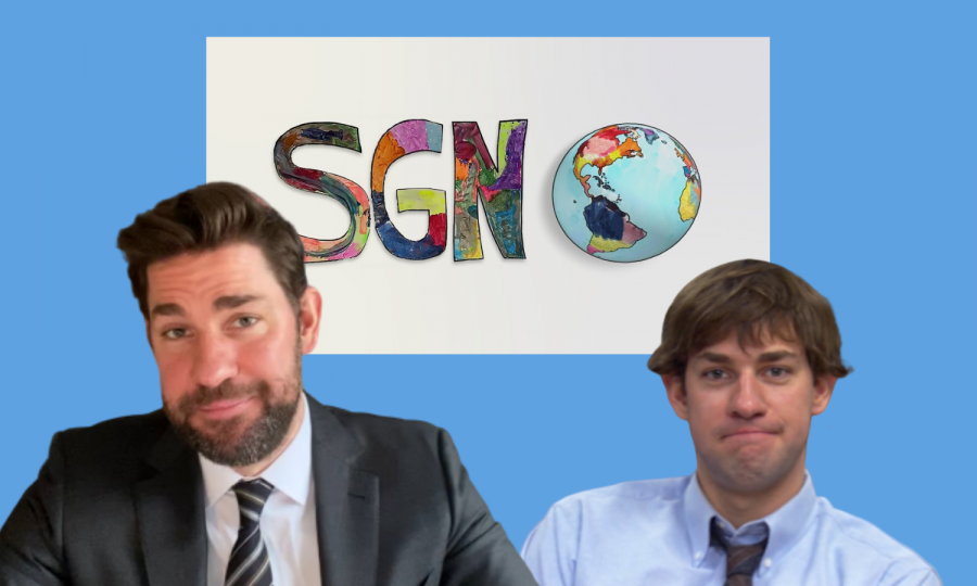 "John Krasinski, best known for his role as Jim Halpert in ""The Office,"" hosts the most popular YouTube talk show: ""Some Good News"" (SGN)."