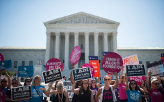 On June 20, 2016, a group of Catholics were standing outside of the Supreme Court Building, praying that the Supreme Court would overturn Roe vs Wade. Pro-choice supporters also came out to stand with the courts to keep abortion legal.