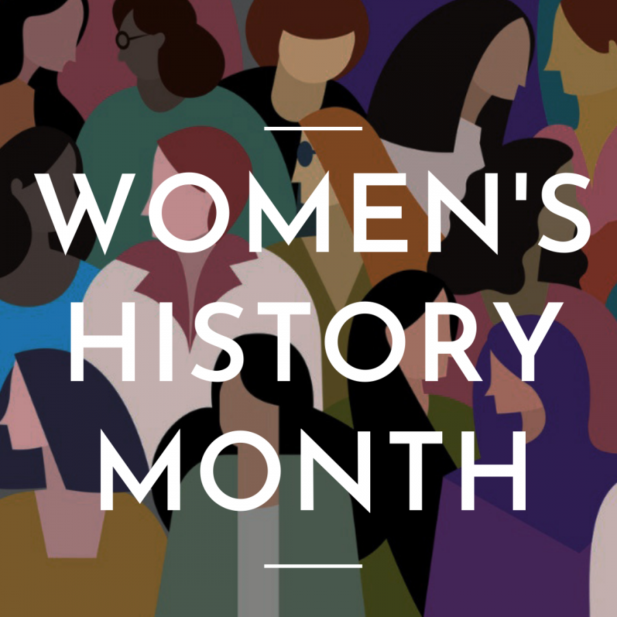 A picture from UNC School of Medicine. This is a drawing for Women's History Month showing a diverse group of women. It represents the many types of women around the world who are appreciated this month.