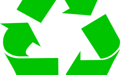 This universal symbol represents the sustainable practice of reducing, reusing, and recycling.